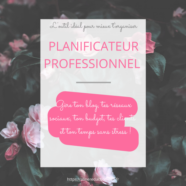 Planificateur rose