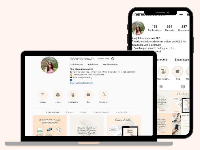 Audit Instagram Aline Rédaction web